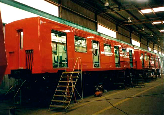 Workshop for train refurbishment and upgrading